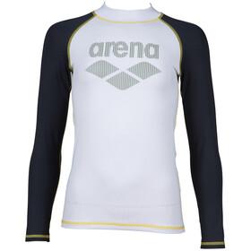 arena Rash LS UV-vest Drenge, hvid/grå